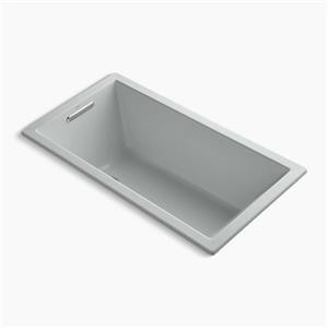 Kohler Co. Underscore 60-in x 32-in Ice Grey Drop-in VibrAcoustic Bath