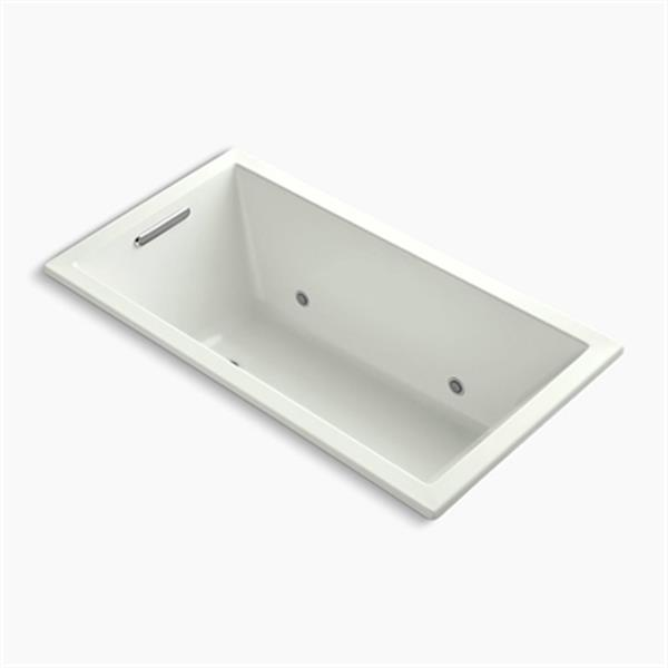 KOHLER 60-in x 32-in Drop-in VibrAcoustic Bath with Chromatherapy
