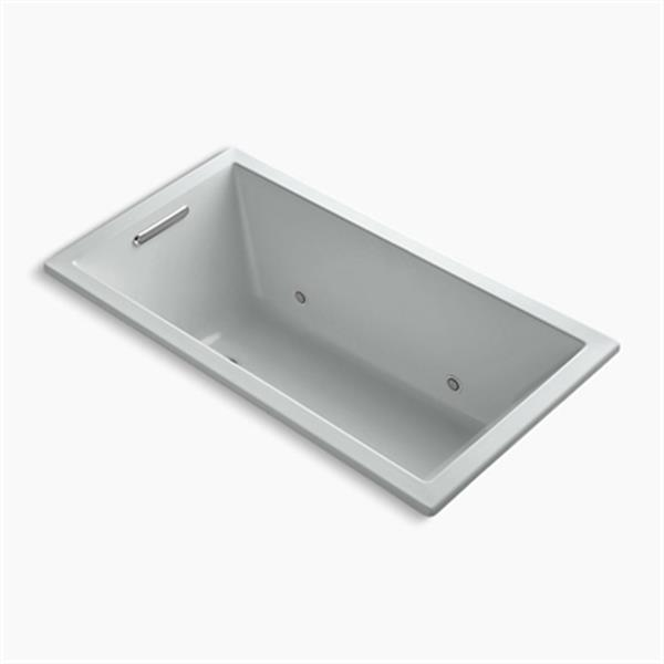 KOHLER 60-in x 32-in Drop-in VibrAcoustic Bath with Bask Heated Surface and Chromatherapy