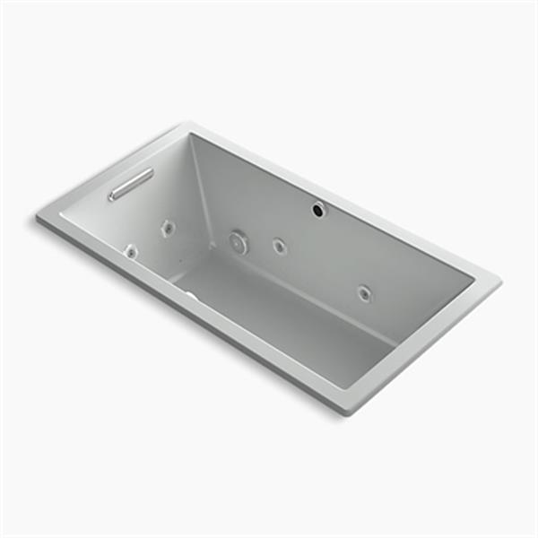 KOHLER 60-in x 32-in Drop-in Whirlpool + BubbleMassage Air Bath
