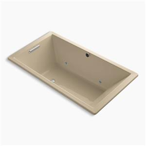 KOHLER 66-in x 36-in Drop-in BubbleMassage Air Bath with Chromatherapy