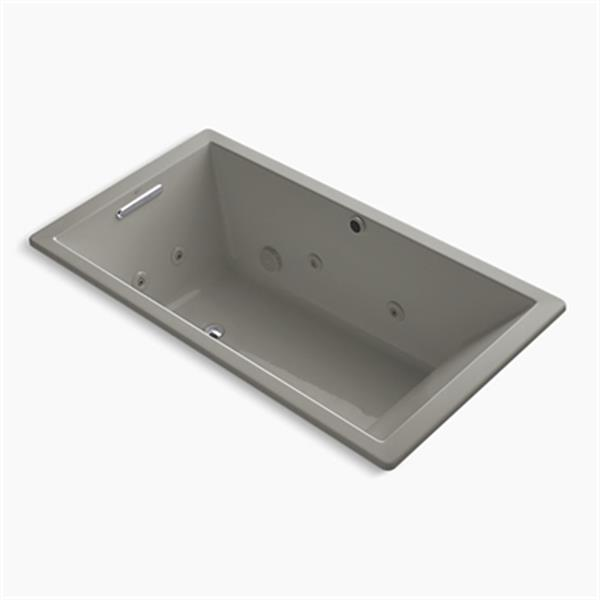KOHLER 66-in x 36-in Drop-in Whirlpool with Heater without Jet Trim