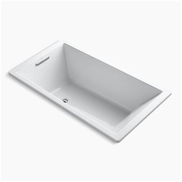 KOHLER 66-in x 36-in Drop-in VibrAcoustic Bath with Center Drain