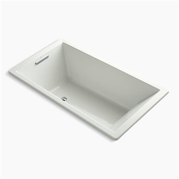 KOHLER 66-in x 36-in Drop-in VibrAcoustic Bath with Center Drain