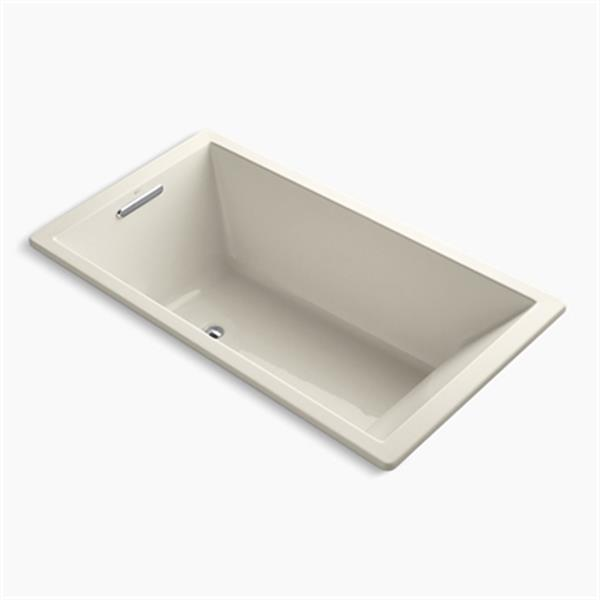 KOHLER 66-in x 36-in Drop-in VibrAcoustic Bath with Bask Heated Surface