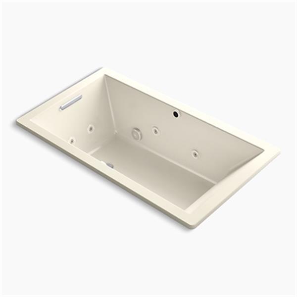 KOHLER 66-in x 36-in Drop-in Whirlpool + BubbleMassage Air Bath