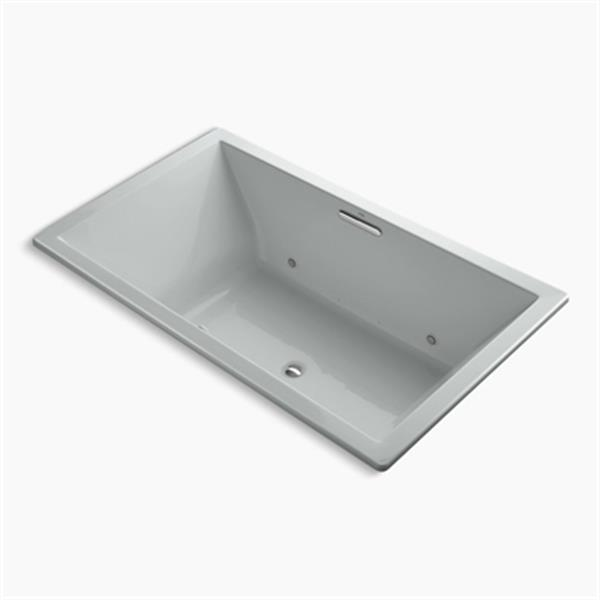 KOHLER 72-in x 42-in Drop-in BubbleMassage Air Bath with Chromatherapy and Center Drain