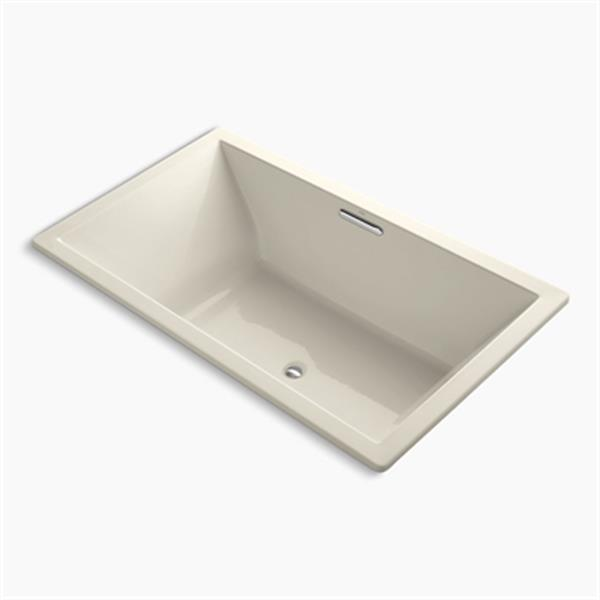 KOHLER 72-in x 42-in Drop-in VibrAcoustic Bath with Center Drain