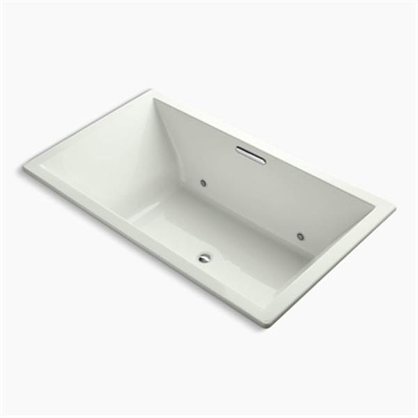 KOHLER 72-in x 42-in Drop-in VibrAcoustic Bath with Bask Heated Surface and Chromatherapy and Center Drain