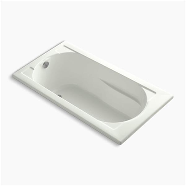 KOHLER 60-in x 32-in Drop-in Bath with Bask Heated Surface and Reversible Drain