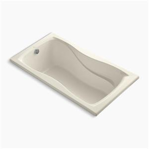 KOHLER 60-in x 32-in Drop-in Bath with Reversible Drain