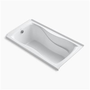 KOHLER 60-in x 32-in Alcove Bath with Integral Tile Flange