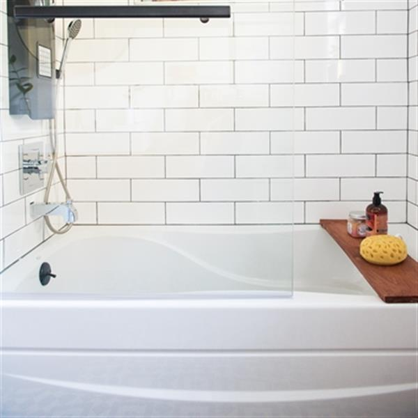 KOHLER 60-in x 32-in Alcove Bath with Integral Apron and Tile Flange