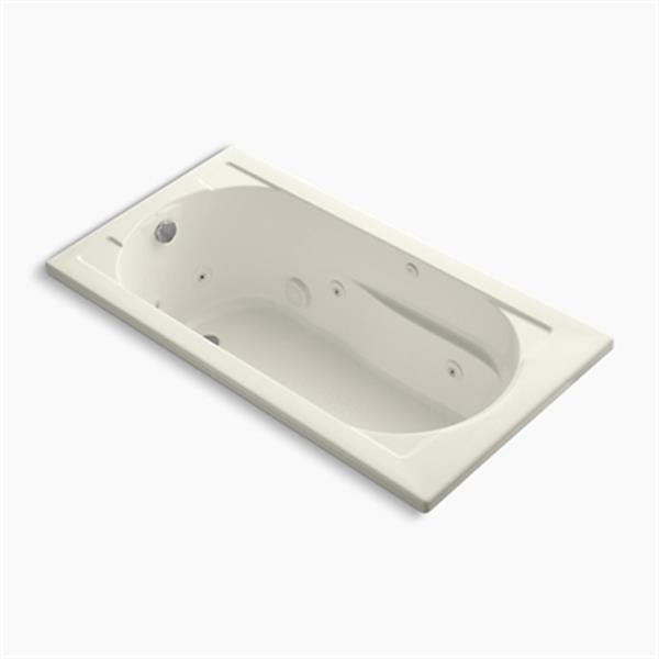 KOHLER 60-in x 32-in Drop-in Whirlpool with Reversible Drain and Heater