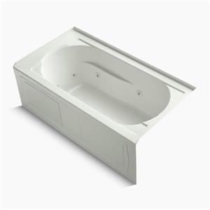 KOHLER 60-in x 32-in Alcove Whirlpool with Integral Apron, Tile Flange and Bask Heated Surface