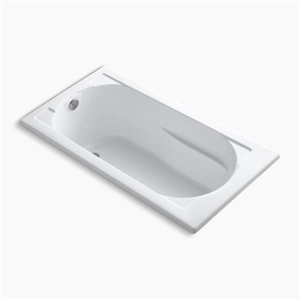 KOHLER 60-in x 32-in VibrAcoustic Drop-in Bath with Reversible Drain