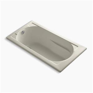 KOHLER 60-in x 32-in VibrAcoustic Drop-in Bath with Reversible Drain