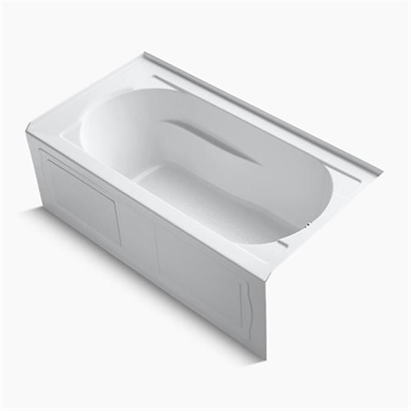 KOHLER 60-in x 32-in Alcove VibrAcoustic Bath with Integral Apron and Tile Flange