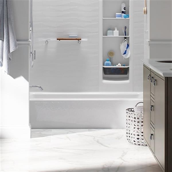 KOHLER 60-in x 30-in Alcove Bath with Integral Apron