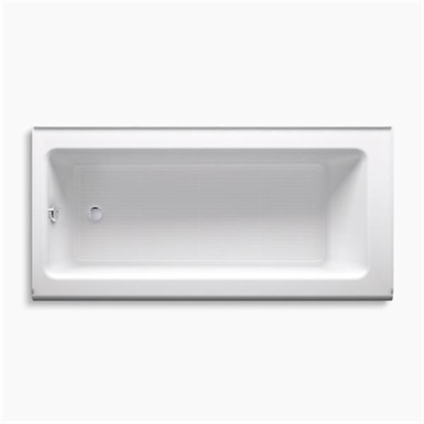 KOHLER 66-in x 32-in Alcove Bath with Integral Apron