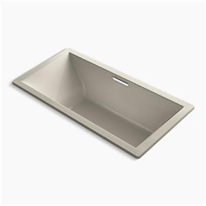 KOHLER 72-in x 36-in Drop-in Bath with Center Drain