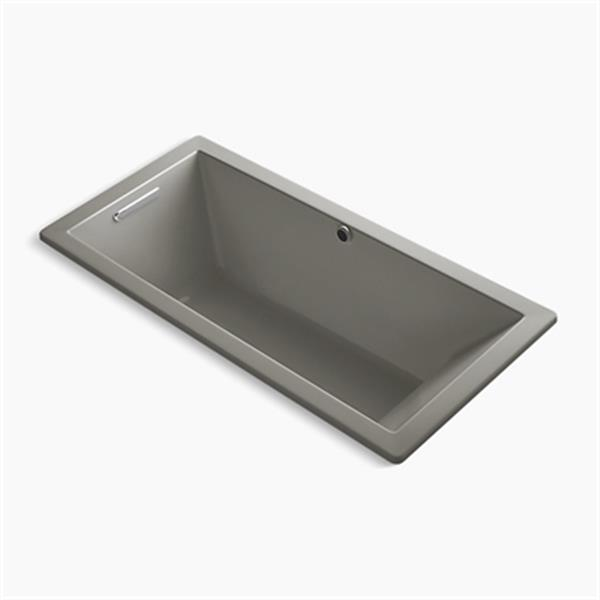 KOHLER 66-in x 32-in Drop-in Bath with Bask Heated Surface and End Drain