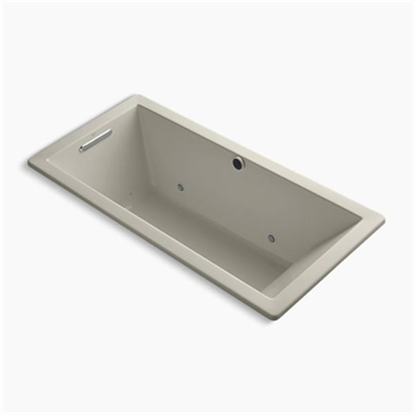KOHLER 66-in x 32-in Drop-in BubbleMassage Air Bath with Chromatherapy