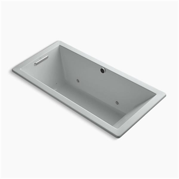 KOHLER BubbleMassage 66-in x 32-in Drop-in Bath with Reversible Drain, Bask Heated Surface and Chromatherapy
