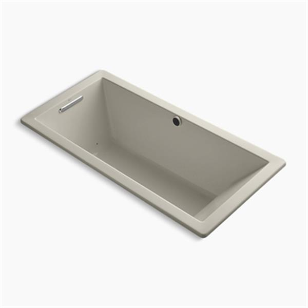 KOHLER BubbleMassage 66-in x 32-in Drop-in Bath with Reversible Drain and Bask Heated Surface