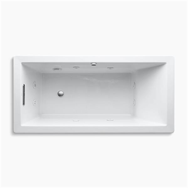 KOHLER 66-in x 32-in Drop-in Whirlpool with Heater