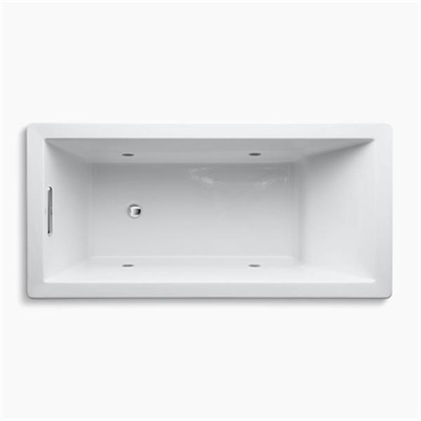 KOHLER 66-in x 32-in Drop-in VibrAcoustic Bath with Chromatherapy