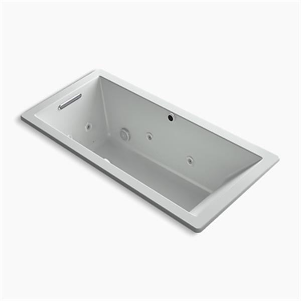 KOHLER 66-in x 32-in Drop-in Whirlpool + BubbleMassage Air Bath