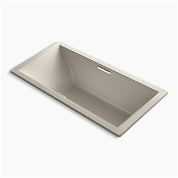 KOHLER 72-in x 36-in Drop-in Bath with Bask Heated Surface and Center Drain
