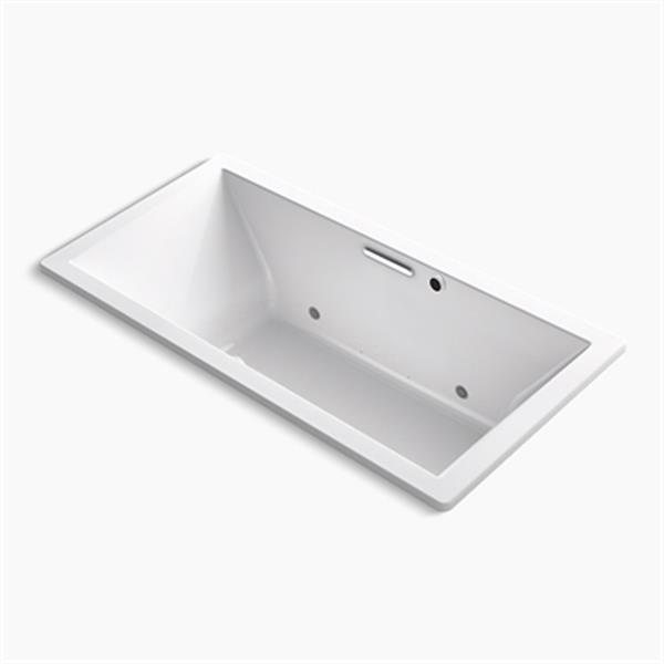 KOHLER BubbleMassage 72-in x 36-in Drop-in Bath with Bask Heated Surface and Center Drain