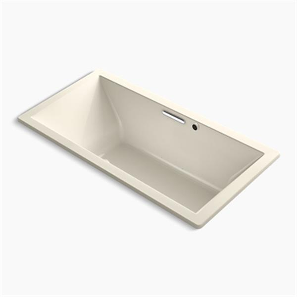 KOHLER BubbleMassage Air bath 72-in x 36-in Drop-in Bath with Bask Heated Surface and Center Drain