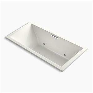 KOHLER 72-in x 36-in Drop-in VibrAcoustic Bath with Bask Heated Surface and Chromatherapy and Center Drain