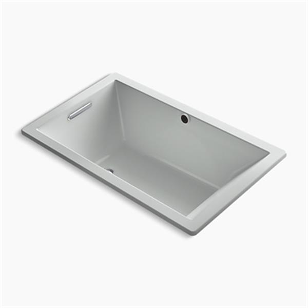 KOHLER 60-in x 36-in Rectangle Drop-in Bath with Bask Heated Surface and End Drain