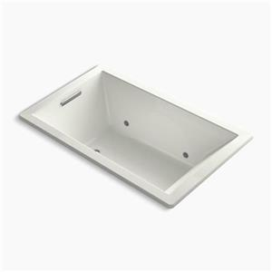 KOHLER 60-in x 36-in Rectangle Drop-in BubbleMassage Air bath with Chromatherapy