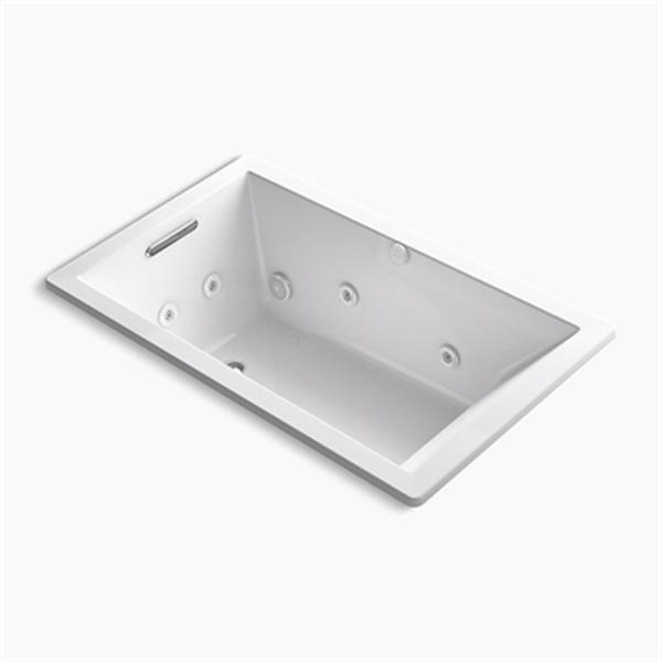 KOHLER 60-in x 36-in Rectangle Drop-in Whirlpool with Heater