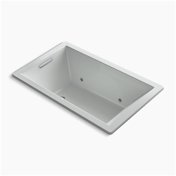 KOHLER 60-in x 36-in Rectangle Drop-in VibrAcoustic Bath with Chromatherapy