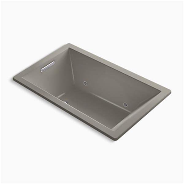KOHLER 60-in x 36-in Rectangle Drop-in VibrAcoustic Bath with Bask Heated Surface and Chromatherapy