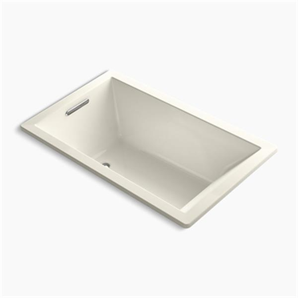 KOHLER 60-in x 36-in Rectangle Drop-in VibrAcoustic Bath with Bask Heated Surface