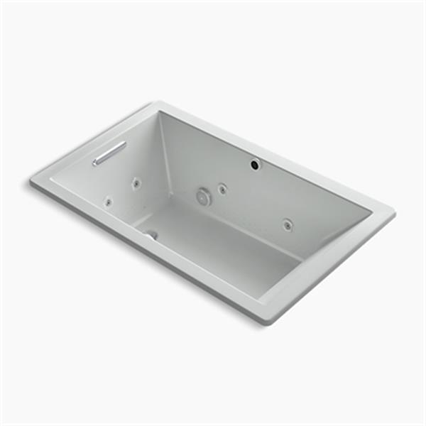 KOHLER 60-in x 36-in Rectangle Drop-in Whirlpool + BubbleMassage Air bath