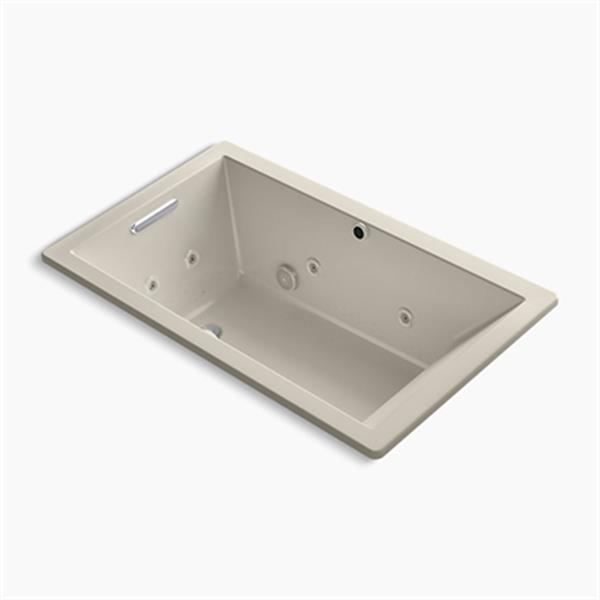 KOHLER 60-in x 36-in Rectangle Drop-in Whirlpool + BubbleMassage Air bath