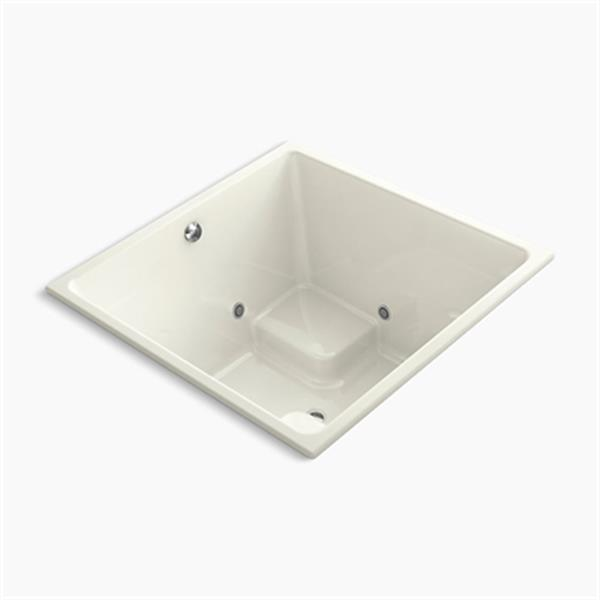 KOHLER 48-in x 48-in Cube Drop-in VibrAcoustic Bath with Bask Heated Surface and Chromatherapy