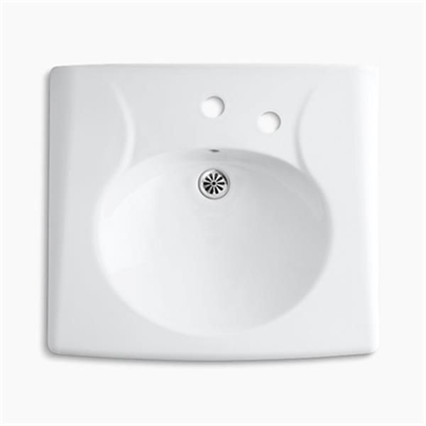 KOHLER Brenham 21.94-in Wall-Mount Lavatory Sink