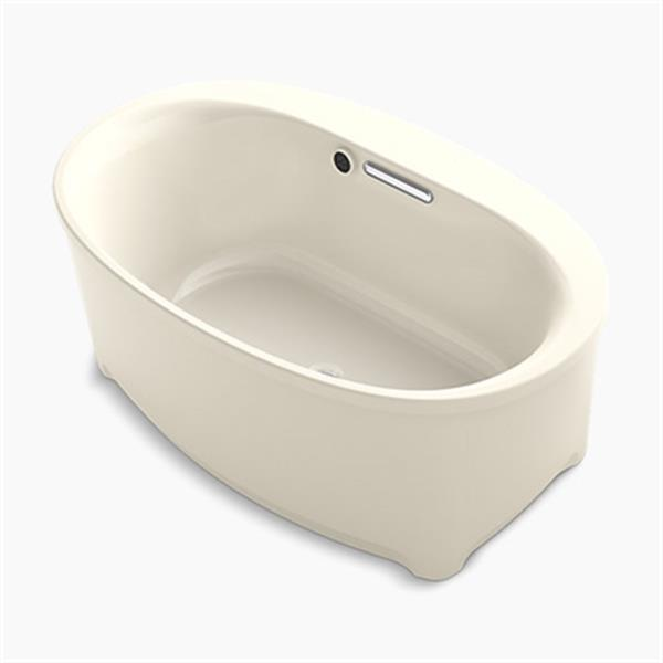 KOHLER 60-in x 36-in Oval Freestanding Bath with Bask Heated Surface