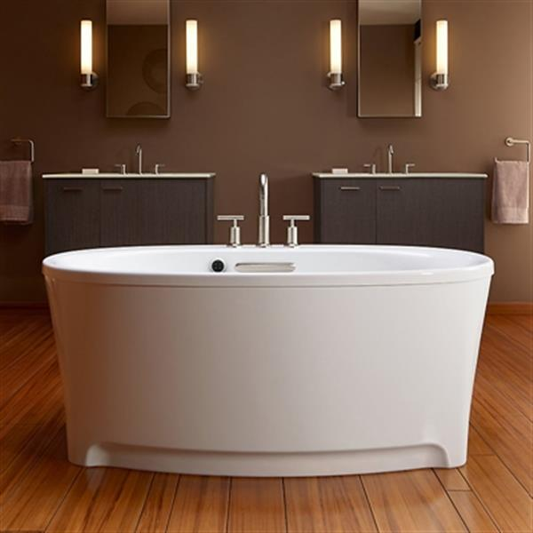 KOHLER 60-in x 36-in Oval Freestanding BubbleMassage Air bath