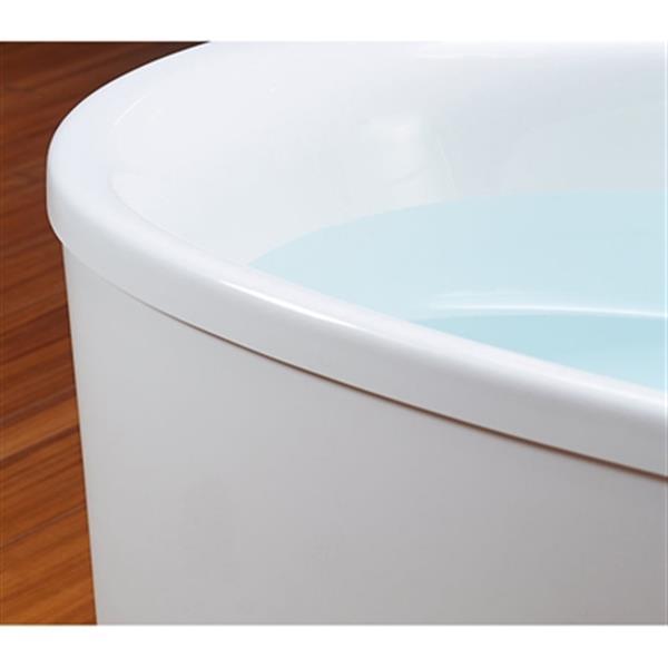 KOHLER 60-in x 36-in Oval Freestanding VibrAcoustic Bath