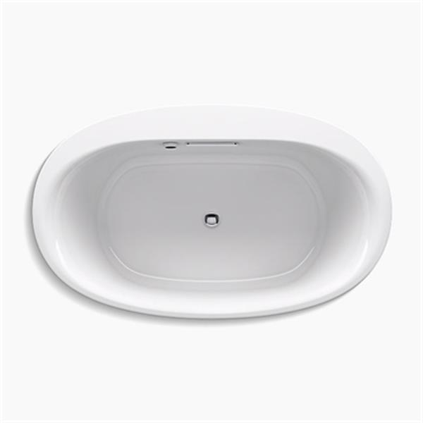 KOHLER 60-in x 36-in Oval Drop-in Bath with Bask Heated Surface